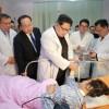 김정은원수님께서 조선에 온 중국관광객들속에서 인명피해사고가 발생한것과 관련하여 조선주재 중화인민공화국대사관을 위문방문하시고 병원을 찾으시여 부상자들을 따뜻이 위로하시였다