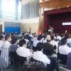 민족교육옹호투쟁의 력사를 해설/군마에서 4.24 70돐 기념강연회