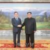 력사적인 제4차 북남수뇌상봉 진행/김정은원수님께서 문재인대통령과 또다시 상봉하시고 회담을 하시였다