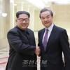 김정은원수님, 중화인민공화국 국무원 국무위원 겸 외교부장을 접견