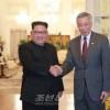 김정은원수님께서 싱가포르공화국 수상을 접견하시였다