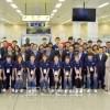 북남통일롱구경기에 참가하기 위해 남측대표단, 선수단이 평양에 도착