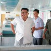 김정은원수님, 새로 건설된 연풍호방류어업사업소를 현지지도