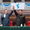 〈북남수뇌회담〉김정은원수님, 문재인대통령과 함께 대집단체조와 예술공연을 관람