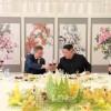 〈북남수뇌회담〉김정은원수님께서 문재인대통령을 위해 삼지연에서 오찬을 마련하시였다