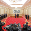 〈북남수뇌회담〉김정은원수님께서 문재인대통령과 함께 《9월평양공동선언》에 서명하시였다