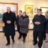 꾸바공화국 국가리사회 위원장 겸 내각수상 만수대창작사를 참관/김정은원수님께서 동행하시였다.