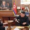 김정은원수님께서 미국 워싱톤을 방문하였던 제2차 조미고위급회담대표단을 만나시였다