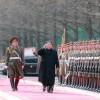 김정은원수님께서 조선인민군창건 71돐에 즈음하여 인민무력성을 축하방문하시고 강령적인 연설을 하시였다