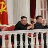 김정은원수님께서 건군절에 즈음하여 조선인민군 전체 대련합부대, 련합부대장들과 함께 경축공연을 관람하시였다
