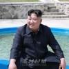 김정은원수님, 신창양어장을 현지지도