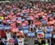 아베규탄의 목소리, 최대규모로/8.15에 서울에서 10만명 초불집회