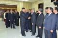 김정은원수님, 전승 60돐 경축행사에 참가하기 위하여 조선을 방문하고있는 여러 나라 대표단 단장들과 담화