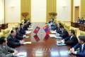 몽골 엘베그도르쥐대통령 조선방문/김영남위원장과 회담