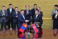 조선과 몽골정부들사이의 공업 및 농업분야에서와 문화, 체육 및 관광분야에서의 협조에 관한 협정 조인