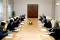 유럽의 정치인대표단 조선방문/단장은 영국 전 수상의 관방실장