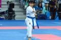 〈인천 아시아대회・가라떼〉녀자개인형경기에서 재일동포 강지의선수가 4위