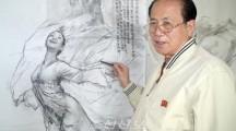 단붓에 그려내는 몰골법으로 명망높은 미술가 최성룡씨/78살의 지금도 현역, 후비육성에 심혈