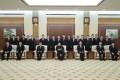 김정은원수님께서 최고인민회의 제14기 제4차회의에서 새로 임명된 내각 성원들을 만나시고 기념사진을 찍으시였다