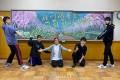 【투고】입학생들을 축복하는 《칠판아트》