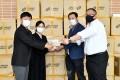 조대에 10만장의 마스크를 기증, 《4.24》의 날에/총련도꾜 신쥬꾸지부 다가다노바바분회