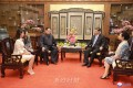 김정은원수님의 중국방문 3돐기념 사진전시회  /  중국주재 조선대사관에서