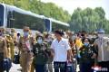 제7차 전국로병대회 참가자들 평양 도착