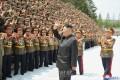 김정은원수님께서 조선인민군 제1차 지휘관,정치일군강습회 참가자들과 기념사진을 찍으시였다