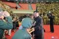 김정은원수님께서 제7차 전국로병대회 참가자들을 만나시고 그들과 함께 기념사진을 찍으시였다
