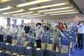 〈군마추도비재판〉항소심판결을 앞두고 시민들이 집회