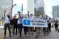 6.15일본지역위원회, 일본단체들이 미국대사관앞에서 항의행동
