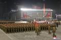 김정은원수님을 모시고 공화국창건 73돐경축 민간 및 안전무력열병식 성대히 거행