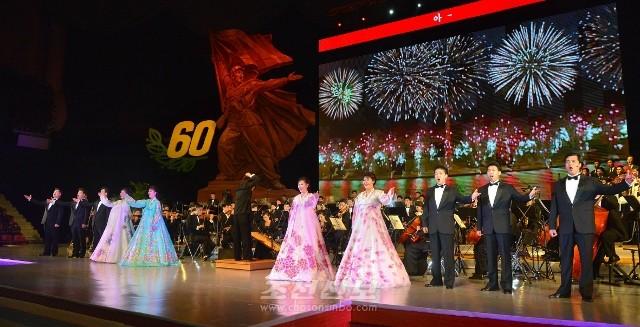 조국해방전쟁승리 60돐경축 은하수음악회 《승리》가 28일, 평양에서 진행되였다.(조선중앙통신)