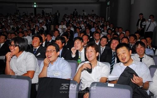 《재일본조선청년상공회 제17차 총회》 참가자들