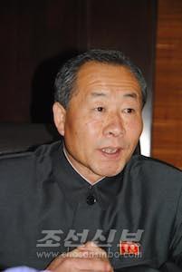 김정하 내각사무국장(사진 리동호기자)