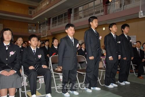 박척도학생(앞줄 왼쪽에서 3번째)