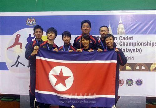 아시아가라떼도선수권대회에 참가한 선수단 성원들