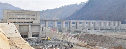 청천강계단식발전소건설장(희천9호발전소)