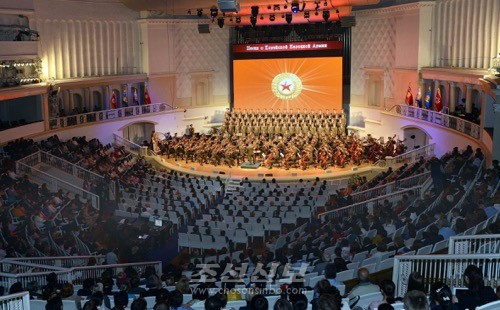 대성황리에 진행된 모스크바공연 (조선중앙통신)