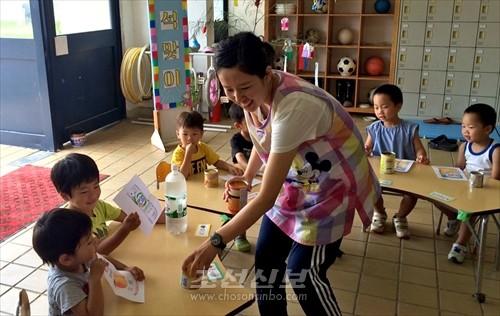 한달 3번 운영되고있는 토요아동교실의 최근 모습(사진제공=총련 나라현본부)