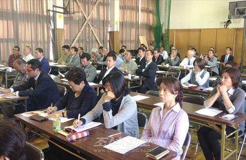 나고야초급에서 진행된 모임 참가자들