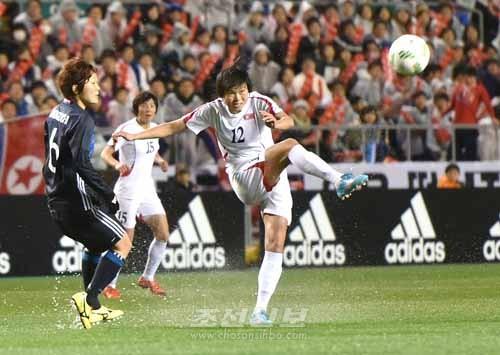 제5차 경기 조선 대 일본(사진 로금순기자)