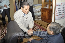 센다이시내에 거주하는 동포를 위문하였다.