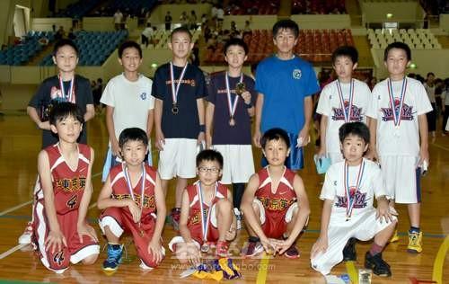 《재일조선학생소년롱구단》에 선출된 남자선수들