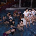 문수물놀이장을 찾은 재일조선학생소년롱구방문단