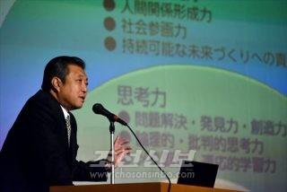 윤태길교장이 민족교육개혁안을 발표하였다.