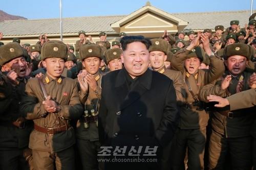 김정은원수님께서 조선인민군 제1344군부대관하 구분대를 시찰하시였다.(조선중앙통신)