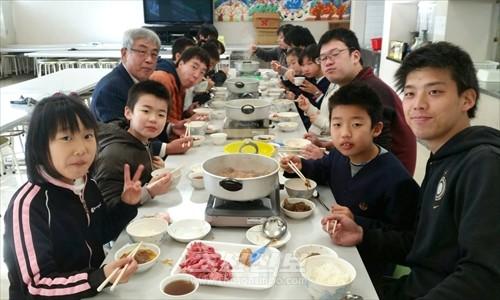 후꾸시마초중 학생들을 위한 식사모임