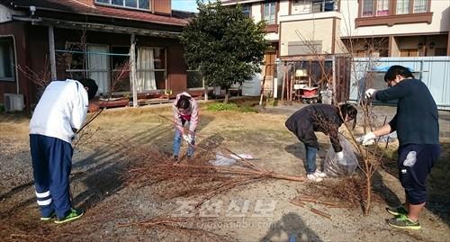 동포들을 위한 봉사대활동을 진행한 조청원들