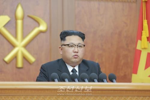 김정은원수님께서 2017년 새해를 맞으며 1일 신년사를 하시였다.(조선중앙통신)